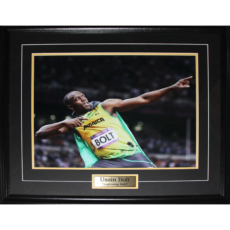 Midway Usain Bolt Olympic Runner Pose 16x20-inch Frame
