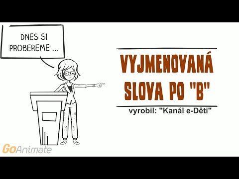 Animovaná vyjmenovaná slova