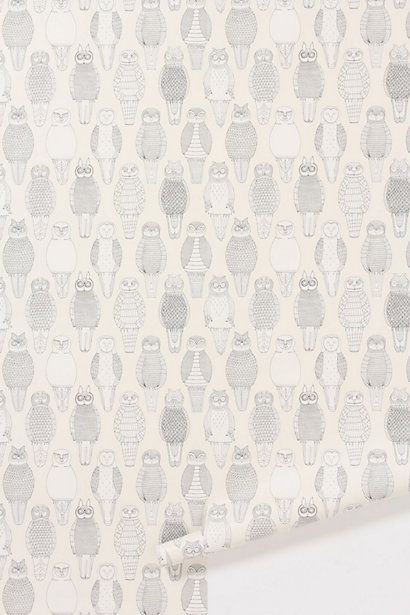 Owls Of The British Isles Wallpaper #anthropologie
