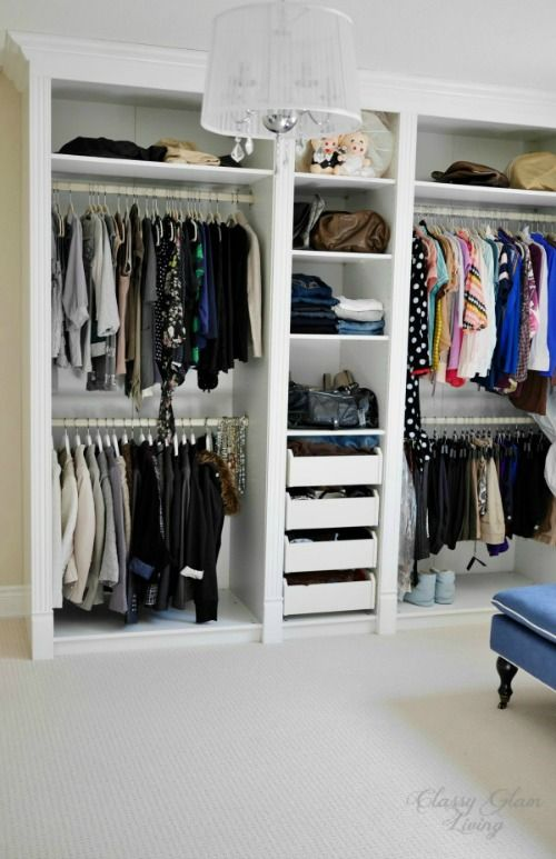 DIY Dressing Room IKEA PAX | Classy Glam Livingadded trims and mouldings to  make the closet