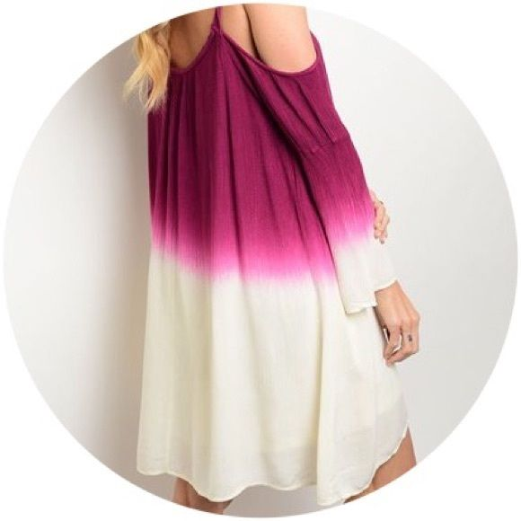 ❤️SALE❤️ Tie Dye Berry & Cream Summer Dress Beautiful summer Berry Cream Dress.                                               Fabric: 100% Rayon                                               Available for immediate shipment.                                Trades PayPal.  Please make your offer using the offer button. Dresses