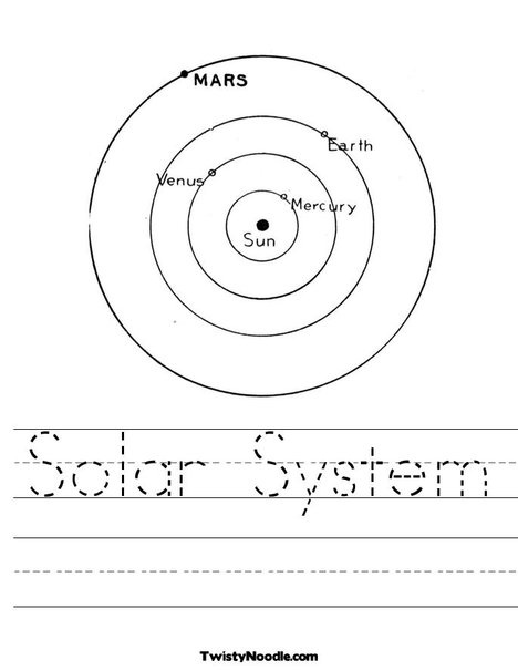 solar system crossword worksheet - photo #32