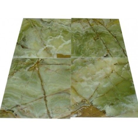 18 in. x 18 in. Dark Green Onyx Solid Polished Finish Flooring Tile #dark_green_onyx #green_onyx_marble_tile #green_onyx_tile #onyx_tiles