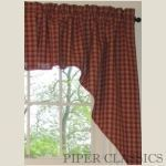 Country Shower Curtains | Sturbridge Wine Red Shower Curtain | Piper Classics