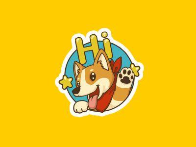 Cute Corgi Stickers by Petshopbox