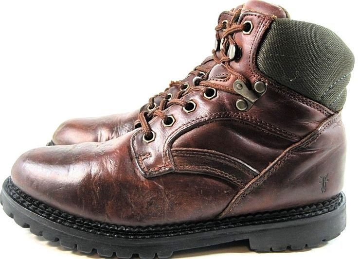 Fry Men Work Boots Size 8 Brown Leather Style 87145.  TTT 130 #Frye #Work