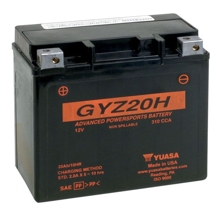 Yuasa GYZ20H Battery. *GYZ Series - Factory Activated*