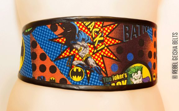 Waist-Cincher Style Belts for bold women who love to stand out in a crowd! Designed and Made in Toronto PERSONAL SERVICE/CUSTOM ORDERS ONLY  COLLECTION: COMICORS joker & batman  $60