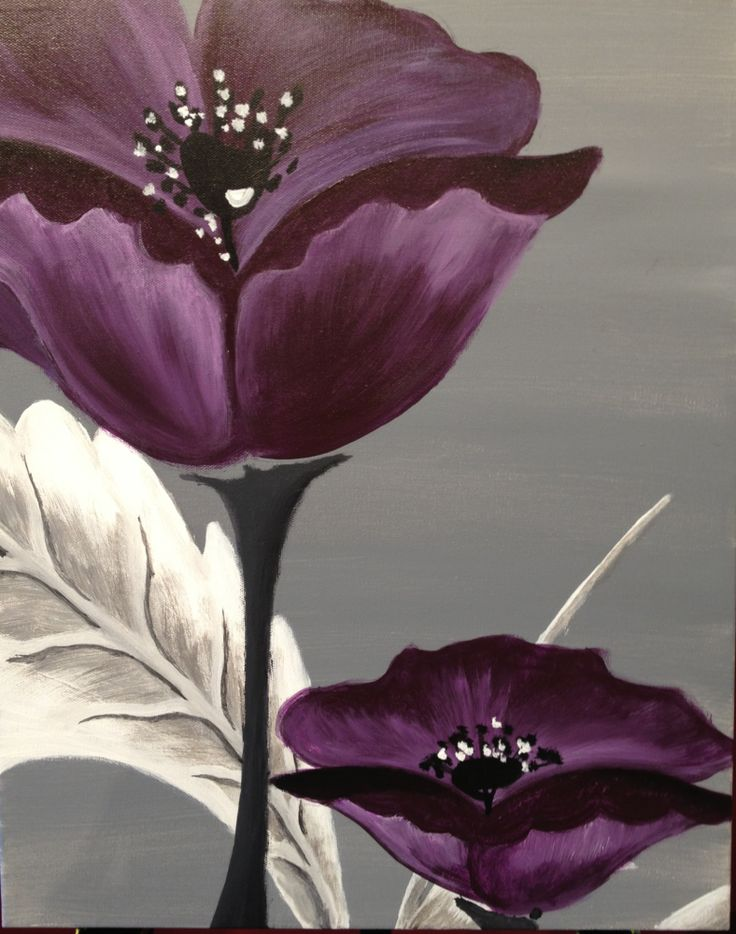 I am going to paint Poppies En Vogue at Pinot's Palette - Ellicott City to discover my inner artist!