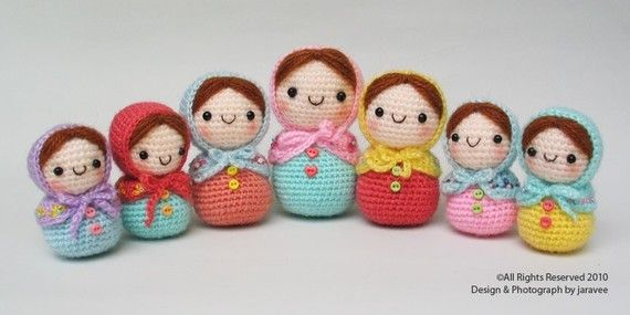 Amigurumi Russian Dolls : Matryoshka Doll PDF Crochet Pattern by jaravee on Etsy, USD7 ...