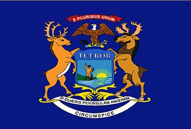 The Michigan Flag was adopted officially on 1st August, 1911 after some alterations.