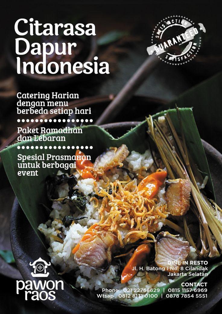 Pawon Raos - Citarasa Dapur Indonesia. Poster by Realman