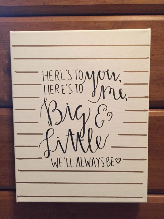 Here's To You Big Little Sorority Canvas by sratcratfz on Etsy