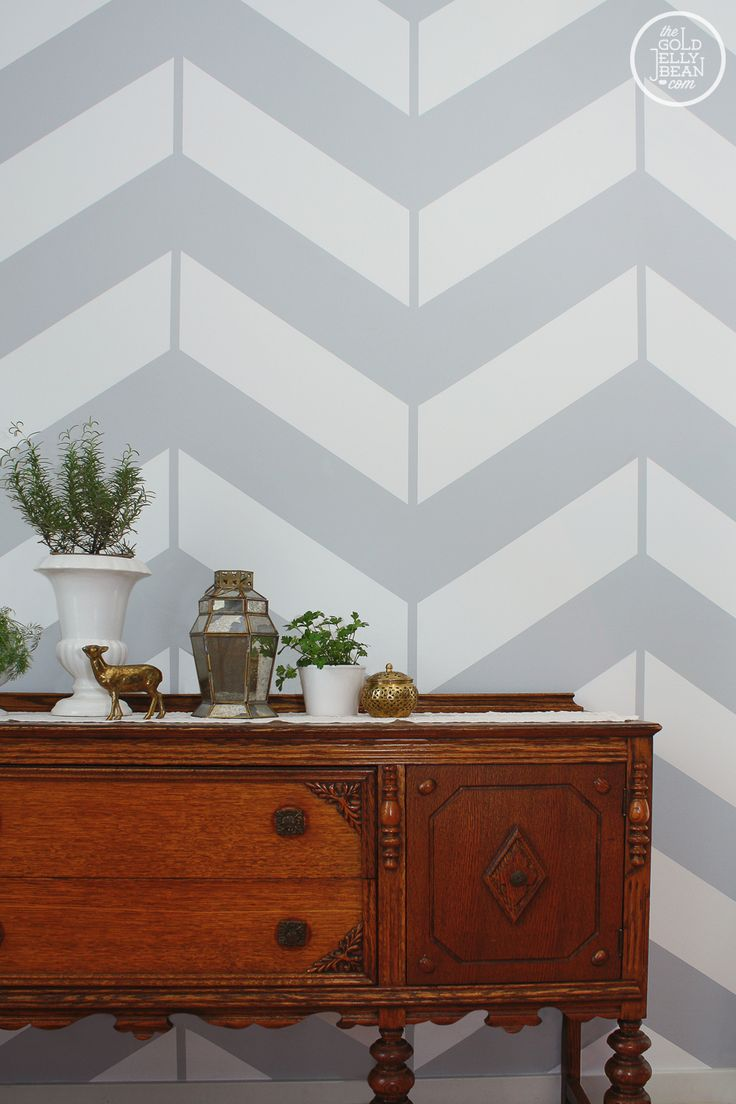 I finally posted a tutorial for our chevron wall