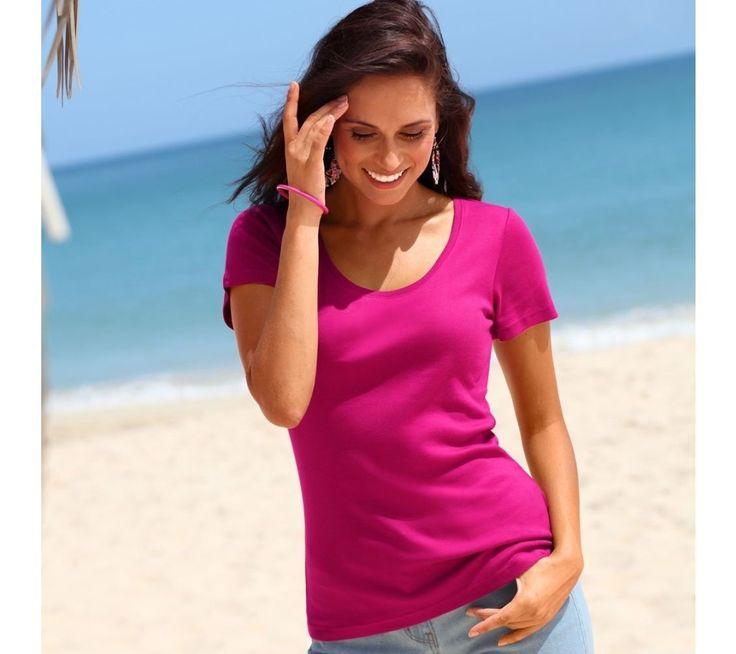 Dámske bavlnené tričko sokrúhlym výstrihom | vypredaj-zlavy.sk #vypredajzlavy #vypredajzlavysk #vypredajzlavy_sk #tshirt