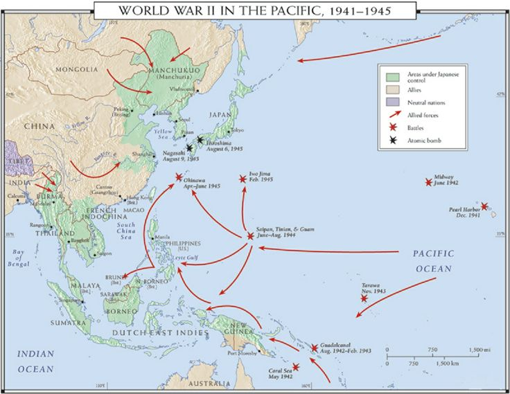 15 best 076 MAPS  WWII PACIFIC images on Pinterest  Wwii The