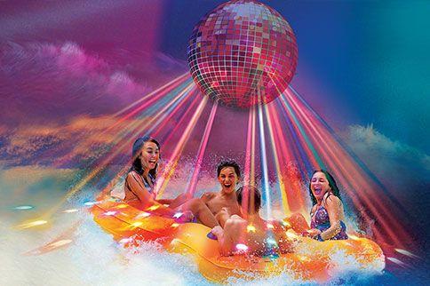 disco water ride--wet n wild for Spring Break