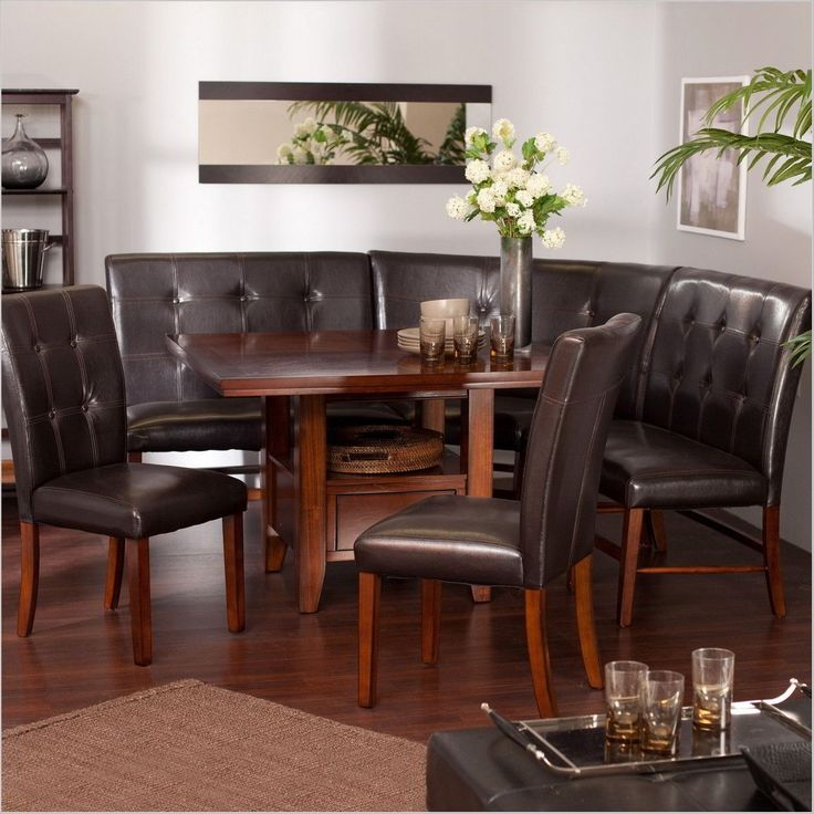 Table, Comfortable and Stylish Breakfast Nook Table Set: Comfy Breakfast Nook Table Set
