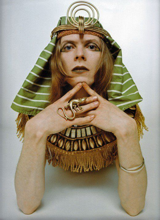 David Bowie as the Sphinx, 1969 | ❤ Egyptian style ▲ Via Afrikraaft For more gypsy ideas follow http://www.pinterest.com/afrikraaft/▲ #Fashion △ #Gypsy △ #egyptian △ #Bracelets △ #Accessories △ #ancient △ #antic #gold △ #golden △ #turquoise #Stylist #Stylish✿⊱╮