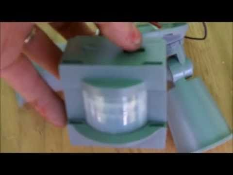 how to make a prop turn on using a motion sensing light - How To Make Animated Halloween Props