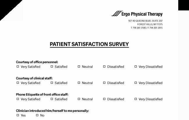 Patient Satisfaction Questionnaire Check More At Https Nationalgriefawarenessday Com Survey Template Thank You Letter After Interview Questionnaire Template