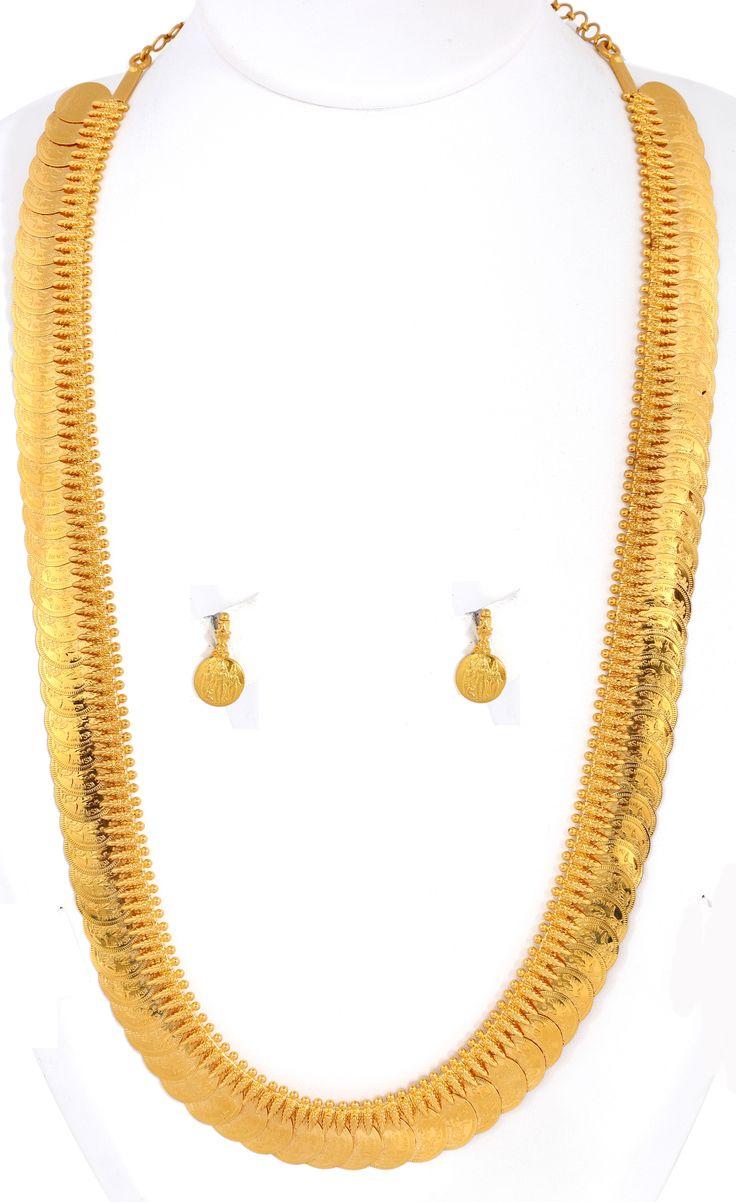 Pai jewellers gold necklace designs latest indian jewellery designs - Lakshmi Kasu Malai Kerala Jewellerytemple Jewellerybridal Jewellerygold Jewelleryear Ringsunique Jewelrygold Necklacesindian