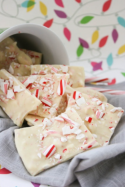 candy cane white chocolate bark. i was so addicted to this as a child.