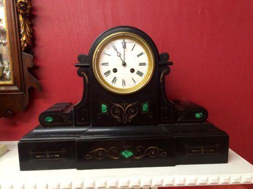 Black French Clock   $675  Butler Creek Antiques Dealer #8804  Lucas Street Antiques 2023 Lucas Dr. Dallas, TX 75219  Like us on Facebook: https://www.facebook.com/pages/Butler-Creek-Antiqu