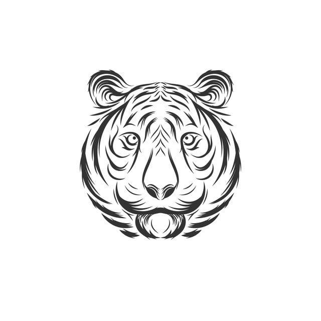 نمر الوجه مثال على التصميم خلاصة العدوان عدوانية Png والمتجهات للتحميل مجانا Face Illustration Tiger Face Illustration Design