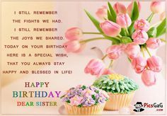 Funny Sister Quotes | Happy Birthday Sister Quote Picture and Sister Birthday Message SMS.