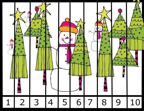 """""""Παίζω και μαθαίνω στην Ειδική Αγωγή"""" efibarlou.blogspot.gr: Συνθέτω χριστουγεννιάτικα παζλ με αρίθμηση από το 1-10"""
