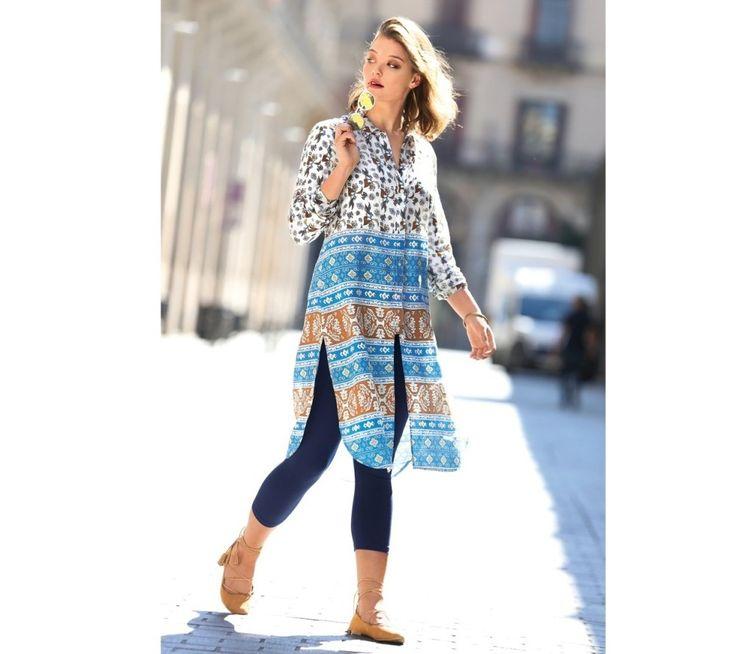 Maxi dlhá košeľa s potlačou | modino.sk #ModinoSK #modino_sk #modino_style #style #fashion #bluzka #tunika #kosela
