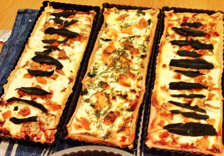 Tarts !!!! Home grown spinach , silverbeet and herbs. Delicious brunch ..... Or whenever.