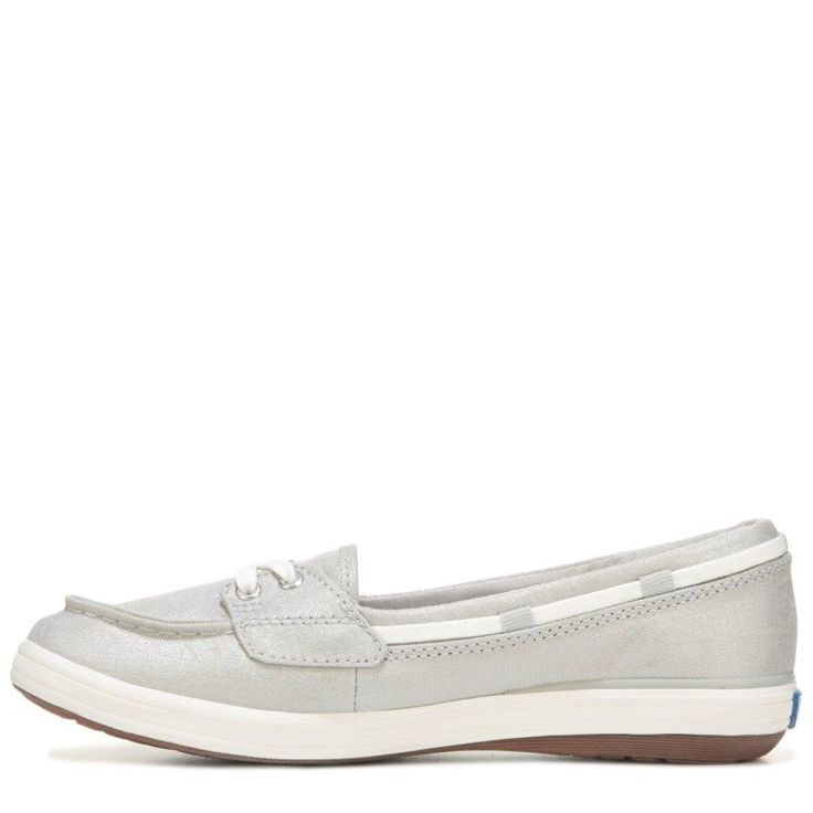 Keds Women's Glimmer Slip On Shoes (Grey/Silver) - 10.0 M