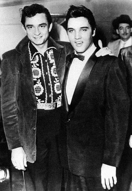 Elvis Presley and Johnny Cash, 1956