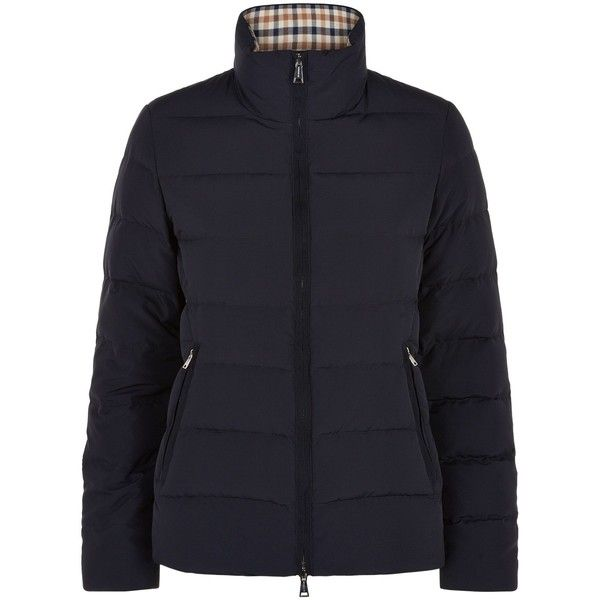 Aquascutum Radcliffe Short Down Jacket (€175) found on Polyvore featuring women's fashion, outerwear, jackets, clearance, navy, down…
