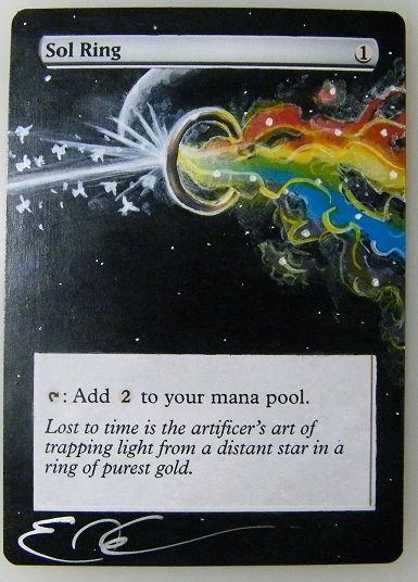 Altered MTG card art Sol Ring It seems more than just coincidence and literal. I LOVE IT