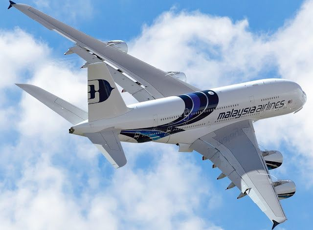 Malaysia Airlines A380 While On Maneuver