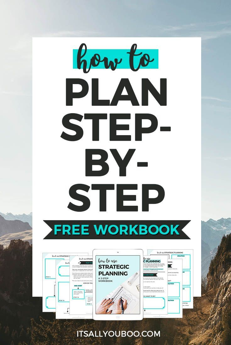 Do you need a plan for achieving your goals? No matter your struggle as a blogger or an entrepreneur, knowing how to plan step-by-step can help you succeed. Click here for your FREE Printable Strategic Planning Workbook.