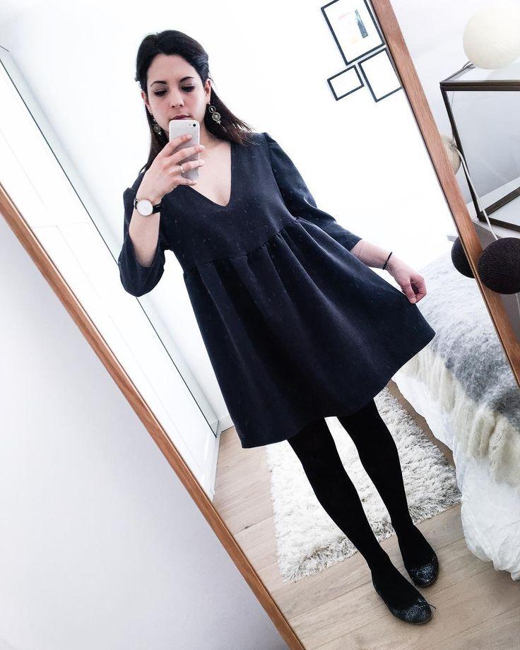 """309 Me gusta, 21 comentarios - Sarah 🌸 (@ptite_perle) en Instagram: """"Look du jour, bonne journée ig 😘 #lookdujour #ootd #robe #madebyme #homemade #couture #sewing…"""""""