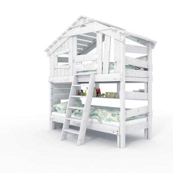 Bibex Jugend Kinderbett Hochbett Doppelbett Spielhaus Massiv