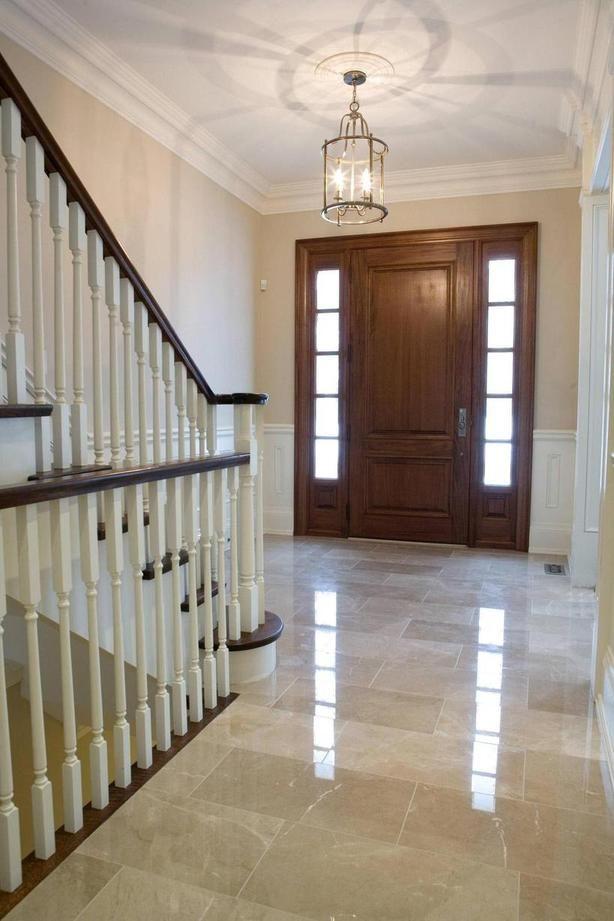 #marble tile entrance way