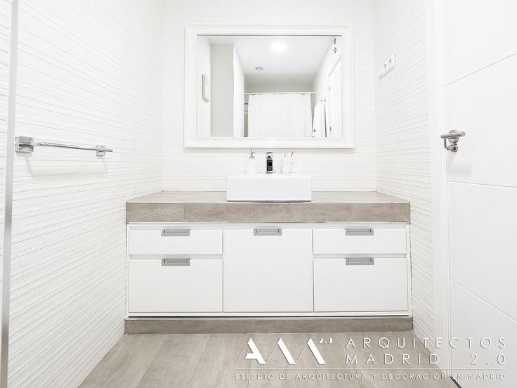 ideas baos pequeos muebles lavabo a medida de pared a pared baos blancos y