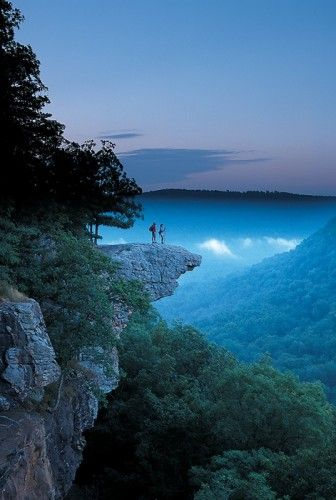 Hawksbill Crag, Ozark National Forest It would be cool to explore the forest further before wakarusa