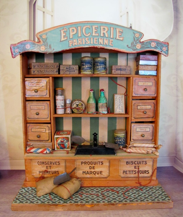 Antique French Paris Doll Shop & Grocery For Your French & German Dolls All Original!