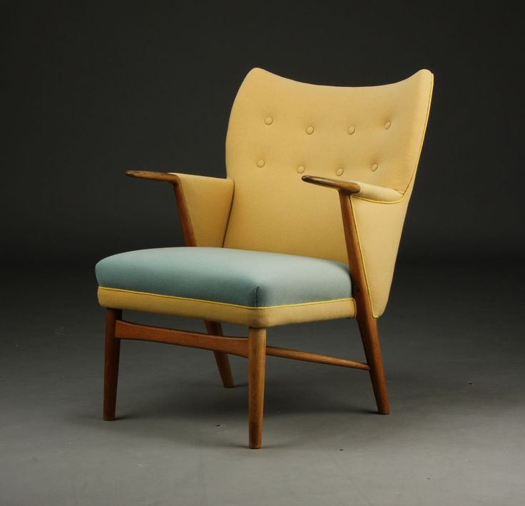 Kurt Østervig; #53 Oak Armchair for Rolschau Møbler, 1954.