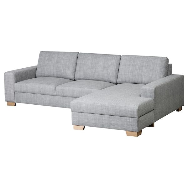 Sorvallen 3er Sofa Isunda Mit Recamiere Rechts Isunda Grau Ikea With Images Couch Sectional Couch Home