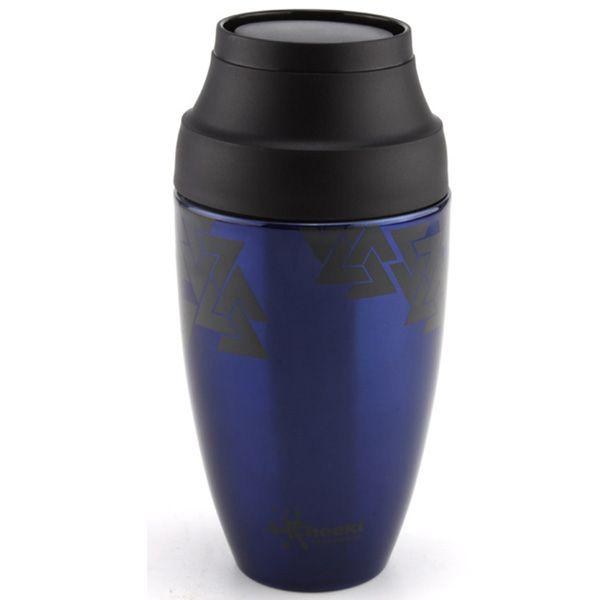 Stainless Steel Coffee Mug - Aztec Blue!! LOVELY mug for #coffee! Great #giftformums.. via limetreekids.com.au