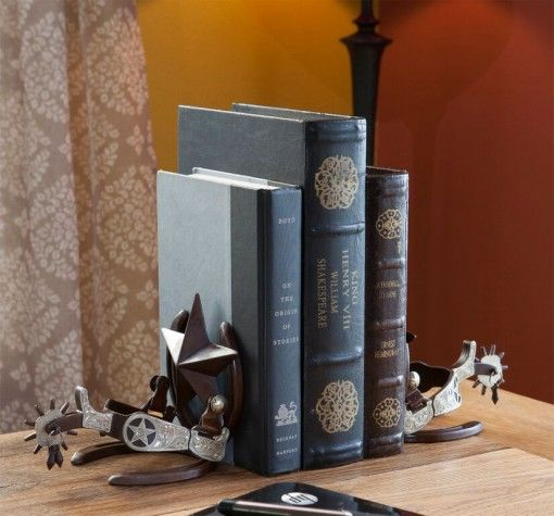 Spur decor bookends jpg western pinterest products decor and westerns - Sturdy bookends ...