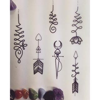 unalome arrow tattoo - Google Search